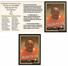 Barry Sanders Oklahoma State Cowboys Heisman Card & Dealer Promo Card FREE Ship