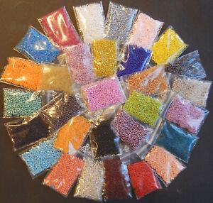 Perlen * ROCAILLES SET * 30 Farben * Perlentiere , Freundschaftsbänder * 300gr.