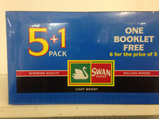 144  BOOKLETS SWAN BLUE STANDARD SMOKING CIGARETTE ROLLING PAPERS