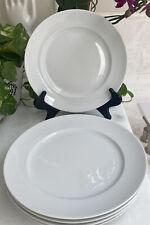 "Lot of 5 Bone China Dinner Plates White Thomas Germany Rosenthal 10 1/2"" EUC"