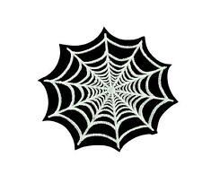Patch ecusson brodé drapeau backpack toile araignée spider thermocollant