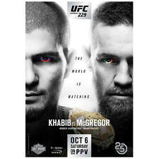 "UFC 229 Nurmagdomedov vs McGregor PPV EVENT POSTER 27"" x 39"" Limited Edition MMA"