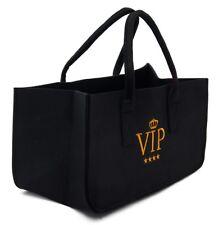 Filztasche VIP Kaminholztasche schwarz Einkaufkorb Aufbewahrung Leergutkorb