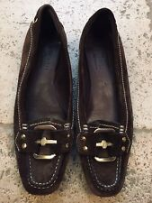 The Original Car Shoe By Prada Womens Brown Leather Suede Loafers Size 37 US 7