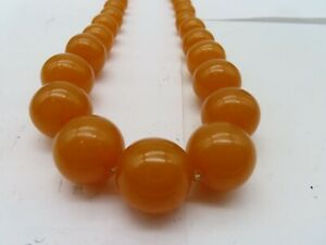"Vintage Baltic Amber Butterscotch  Honey 20"" Prayer Beads Necklace 68 grams"