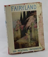 FAIRYLAND Ida Rentoul Outhwaite 1929 First US Edition Rare HC Book, Dust Jacket