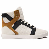 Supra Men's Skytop Hi Top Sneaker Shoes Bone Black Bone White Footwear Skate