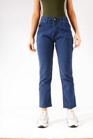Vintage Lee Slim Fit Bootcut Cropped Jeans Dark Blue (W33 L27)