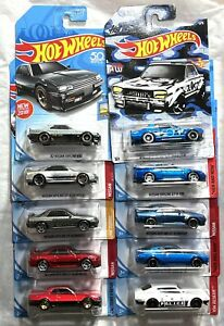 Hot Wheels Nissan Skyline GT-R Lot of (10) Assorted years & models /NEW/VHTF