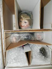 Danbury Mint Porcelain Doll Chloe By Jeanne Singer Irish Blonde Hair Blue Eyes
