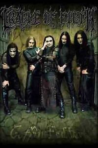 """CRADLE OF FILTH POSTER COFFIN FODDER GOTHIC BLACK METAL ROCK MUSIC 24""""x36"""" NEW"""