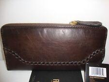 ~*$178 NWT FRYE Melissa Whipstitch  Slate Leather Wallet Clutch DB390