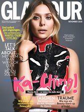GLAMOUR November 2018 Magazin Zeitschrift Heft 11/18 Elizabeth Olsen Ka-Ching
