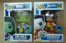 Funko Pop! lot of 2 Comikaze exclusives Marvel 147 She-Hulk & X-Men 183 Colossus