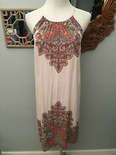NWT FREE PEOPLE STONE COMB TOP PAISLEY PINK SIZE XS SLIT RETAIL $98