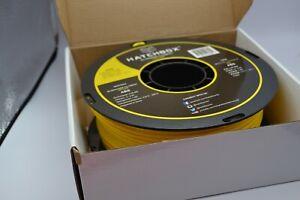 Hatchbox 3D Printer Filament Yellow ABS 3.00 MM 1KG Spool