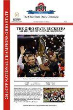 "2014 CFP CHAMPIONS OHIO STATE BUCKEYES - GREAT POSTER! 12"" X 18"""