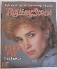 JESSICA LANGE Rolling Stone Magazine - March 17, 1983 issue #391 NO LABEL