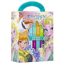 NEW Disney Frozen 12 Board Books Kids Magical Library Learning Collection Set!