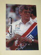 LEONARD WOOD Signed 4x6 Photo NASCAR RACING AUTOGRAPH 1A