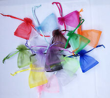 "1/100pcs Organza gift bag Jewelry Packing Pouch Wedding Favor Gift Bags 3""x 4"""