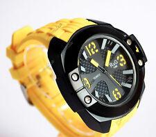 OROLOGIO SPORT R&G TIME SU-1542 GIALLO NERO NUMERI GRANDI FACILE LETTURA