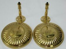 "Gold Solid Brass  Curtain Tie Backs 4 1/2"" Circular Round Pair"