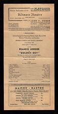 """Clifford Odets """"GOLDEN BOY"""" Francis Lederer 1938 Los Angeles Broadside"""