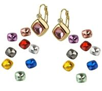 Joan Rivers 10 Changeable Colors of Sapphire Goldtone Leverback Earrings