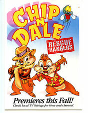 Chip-Dale Chipmunk Rescue Rangers TV Show Disney Animation Character Postcard