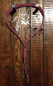 Hand made Turkey / Deer / Duck / Predator Call Paracord Lanyard (pink/camo)