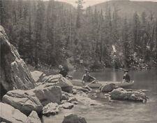 Fen Lake, near Georgetown, Colorado. Rowing boat. Canoe with passengers 1895