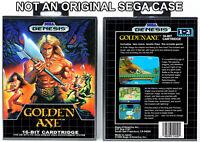 Golden Axe - Sega Genesis Custom Case *NO GAME*