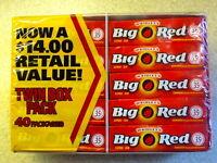 BIG RED Cinnamon Chewing Gum 40x5 Packs=200 CT Wrigley's American Gum BBDJAN