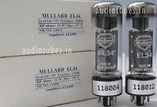 1Match Pair EL34 Mullard  Made in Great Britain  Amplitrex tested #118012&04