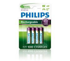 Philips R03b4a95/10 recargables pila AAA (950mah 1 2v 4-er Ampolla)
