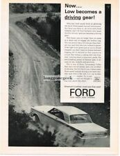 1963 Ford Fairlane driving off-road Automobile Car Vtg Print Ad