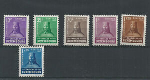 Postage Stamps Luxembourg 1935  276/281   - Au profit d'oeuvres sociales MH *