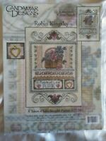 A Token of Love Sampler Picture counted cross stitch kit, linen charm, sealed