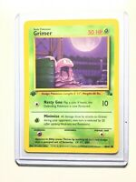 GRIMER - 48/62 - 1st Edition Fossil - Common - Pokemon Card -  NM