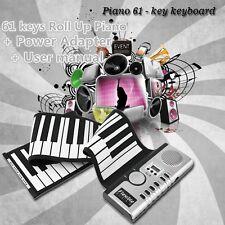 61 Keys Flexible Roll Up Portable Digital Electronic Soft MIDI Keyboard Piano S0
