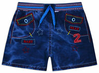 Boys Shorts 100% Cotton Kids New Summer Denim Blue Bottoms Ages 2 3 4 5 6 Years