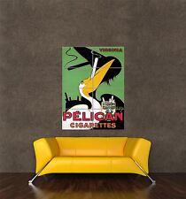 GIGANTE STAMPA POSTER Vintage Pubblicità Pelican SIGARETTE FUMO Retrò pdc200