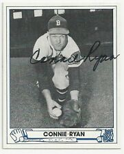 Autographed Signed 1944 Play Ball Reprint Connie Ryan Boston Braves Dec 1996
