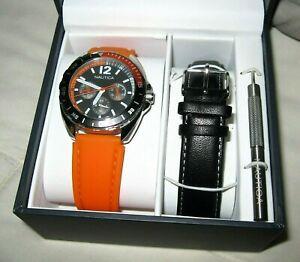 Nautica Sport Wristwatch Wrist Watch Water Resistant Two Interchangeable Bands