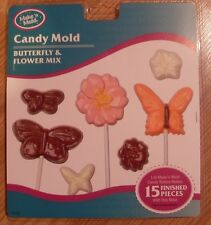 New Make N Mold Butterfly & Flower Mix Chocolate Candy Mold 0196