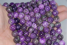 8MM PURPLE SUGILITE GEMSTONE ROUND LOOSE BEADS 15