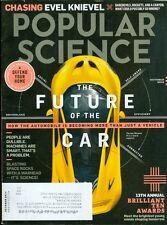 2014 Popular Science Magazine: Future of the Car/Evel Knievel/Brilliant Minds