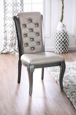 Transitional Style Amina Set of 4pc Dining Side Chairs Gray Color Home Furniture