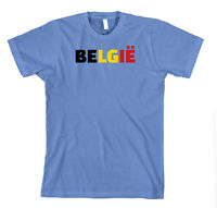 Belgie Belgium Cotton Unisex T-Shirt Tee Shirt Top